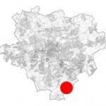 Feuchtwiese im Wannebachtal: Lage innerhalb des Stadtgebietes von Dortmund.