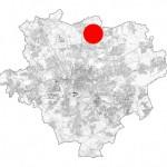 NSG Auf dem Brink: Lage innerhalb des Stadtgebietes von Dortmund.